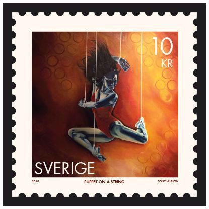 Picture of Stamp Puppet on a String